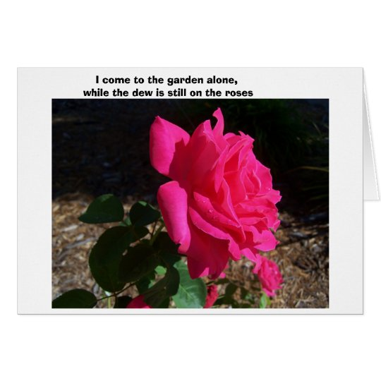 ---While The Dew Is Still On The Roses-- Card