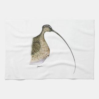 whimbrel bird, tony fernandes tea towel