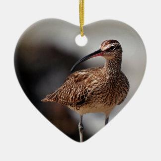 Whimbrel Ceramic Heart Decoration