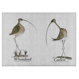 whimbrel, curlew, tony fernandes cutting board