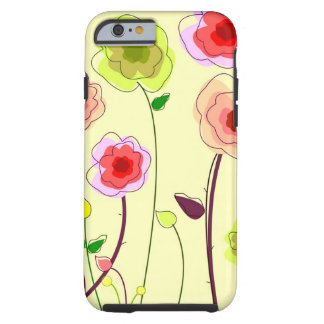 Whimiscal Flowers iPhone 6 case Tough iPhone 6 Case