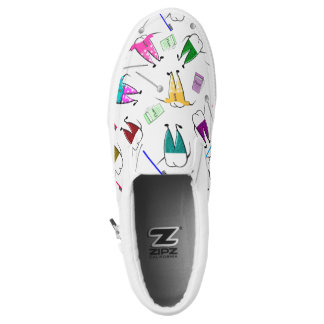 Whimscial Teeth People White Slip-On Shoes