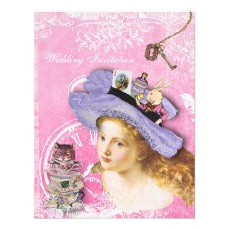 Whimsical Alice in Wonderland Wedding Invitations