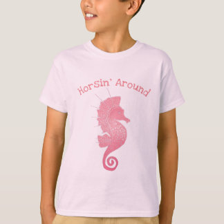 Whimsical and Adorable Seahorse Artwork T-Shirt