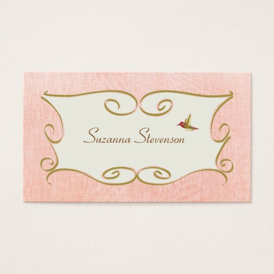 Whimsical and Feminine Pink Business Card