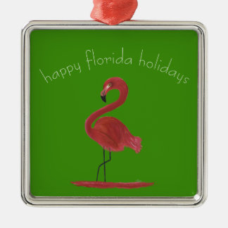 Whimsical and Flirty Pink Florida Flamingo Christmas Ornament
