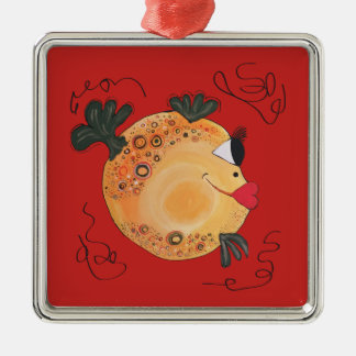 Whimsical and Fun Fish Art Holiday Gift Christmas Ornament