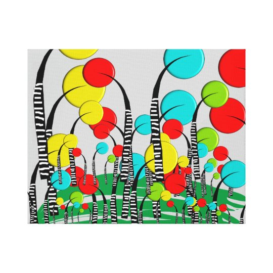 Whimsical and Quirky Tree Art Magical Forrest Canvas
