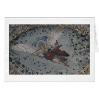 Whimsical Angel with trumpet - Renaissance Card