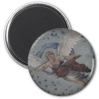 Whimsical Angel with trumpet - Renaissance Magnet