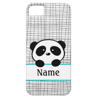 Whimsical Aqua Personalized Panda iPhone 5 Case