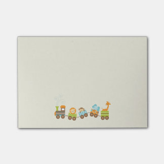 Whimsical Baby Animals Toy Train Post-it Notes