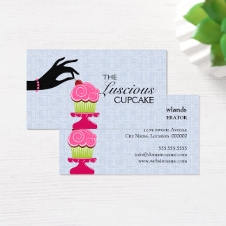 Whimsical Bakery Cupcake Business Card