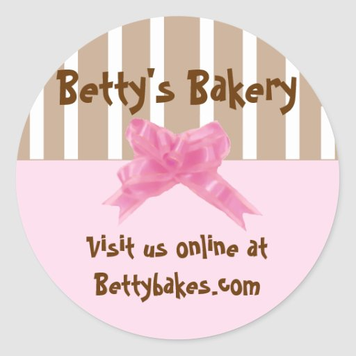 Whimsical Bakery Stickers