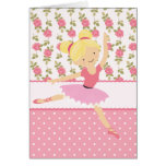 Whimsical Ballerina Floral Pink Girly Personalised