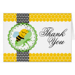 Whimsical Bee Baby Shower Thank You Note Card