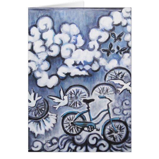 Whimsical Bicycle Painting Products Card