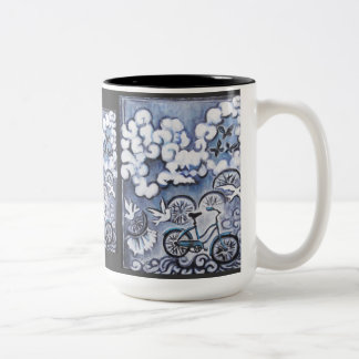 Whimsical Bicycle Painting Products Coffee Mug