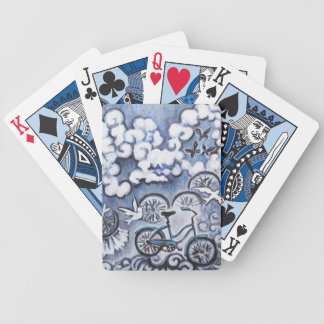Whimsical Bicycle Painting Products Poker Deck