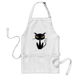 Whimsical Black Cat Apron