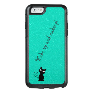 Whimsical Black Cat, Glittery-Wake up and makeup! OtterBox iPhone 6/6s Case