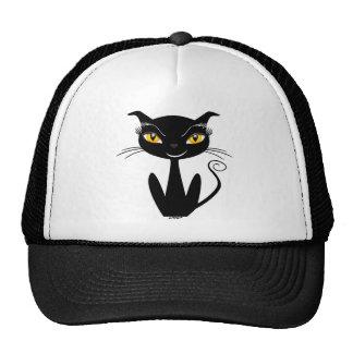 Whimsical Black Cat Mesh Hats