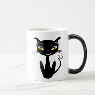 Whimsical Black Cat Magic Mug