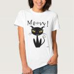 Whimsical Black Cat Meow! Tshirts