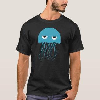 Whimsical Blue Jellyfish Cartoon T-Shirt