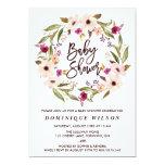 Whimsical Bohemian Floral Wreath Baby Shower 13 Cm X 18 Cm Invitation Card