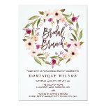 Whimsical Bohemian Floral Wreath Bridal Brunch 13 Cm X 18 Cm Invitation Card