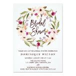 Whimsical Bohemian Floral Wreath Bridal Shower 13 Cm X 18 Cm Invitation Card