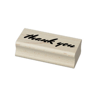 Whimsical Bold Wedding Thank You Typography Rubber Stamp
