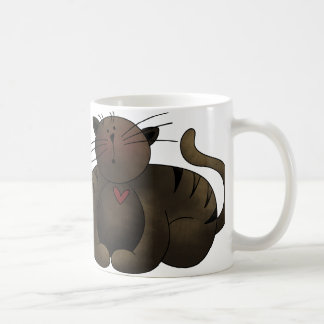 Whimsical Brown Tabby Cat Mug