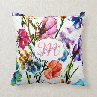 WHIMSICAL BUTTERFLIES AND FLOWERS CUSHION