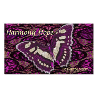 Whimsical Butterfly Background Pack Of Standard Business Cards