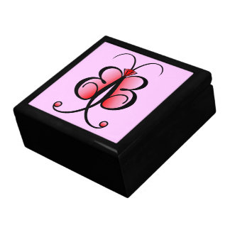 Whimsical Butterfly Bling Bling Jewelry GiftBox Large Square Gift Box