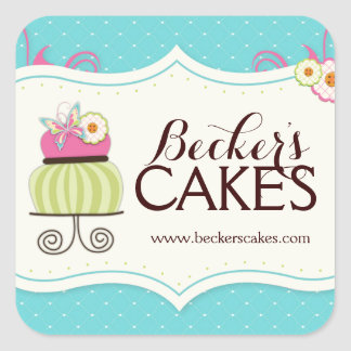 Whimsical Cake Bakery Stickers
