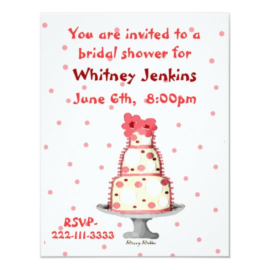 Whimsical Cake Bridal Shower Invitation