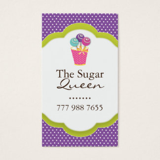 Whimsical Cake Pops Business Cards