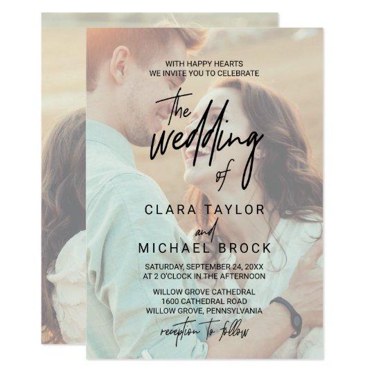Faded Photo The Wedding Of Invitation
