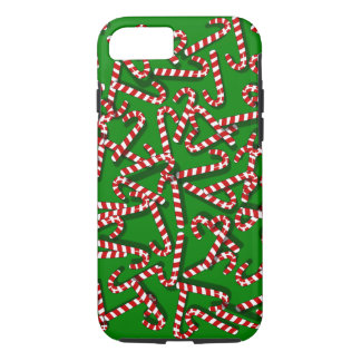 Whimsical Candy Canes on Green Christmas iPhone 7 iPhone 7 Case