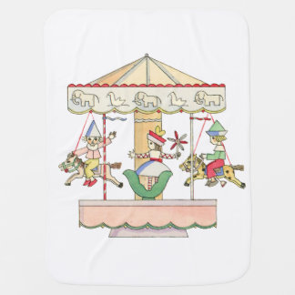 Whimsical Carousel by Tom Seidmann Freud Baby Blanket
