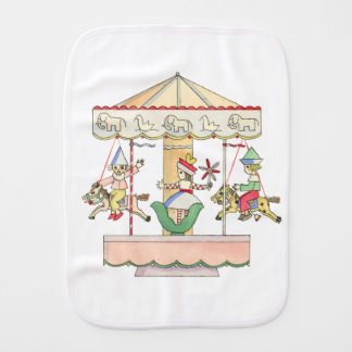 Whimsical Carousel by Tom Seidmann Freud Burp Cloth