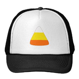 Whimsical cartoon candy corn trucker hats
