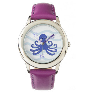 Whimsical Cartoon Octopus Wrist Watches