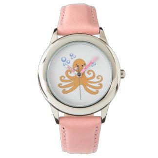 Whimsical Cartoon Octopus Wristwatch