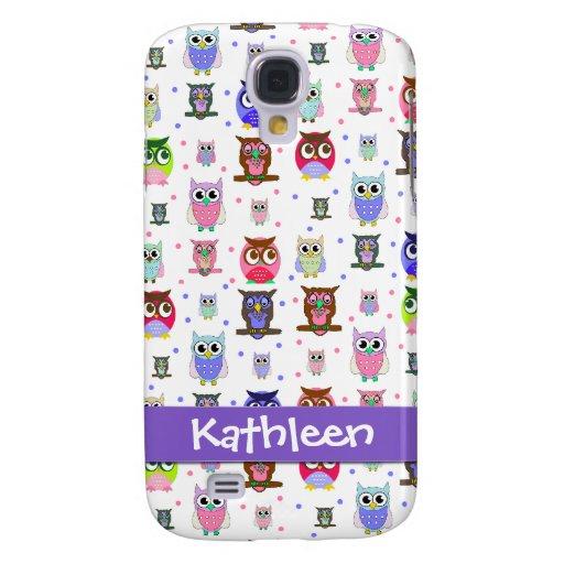 Whimsical Cartoon Owls i Samsung Galaxy S4 Cover