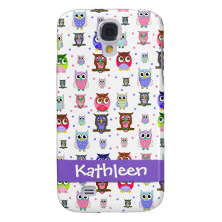 Whimsical Cartoon Owls Samsung Galaxy S4 Case