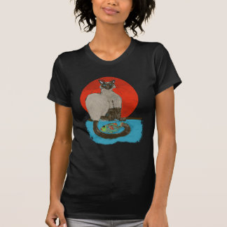 whimsical cat and fish for the cat lover T-Shirt